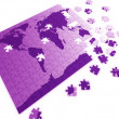 Puzzle map of the world — Stock Photo #8391086