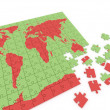 Puzzle map of the world — Stock Photo #8391145