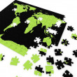 Puzzle map of the world — Stock Photo #8391175