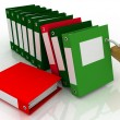 3D illustration of image of folders and folder with secret — Stock Photo #8391533