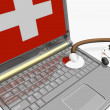 Stock Photo: Laptops diagnostic. 3d illustration