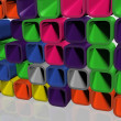 Wall from the coloured, geometrical figures - Foto Stock