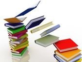 Books in pile — Foto Stock