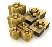 Prachtige geschenkdozen — Stockfoto