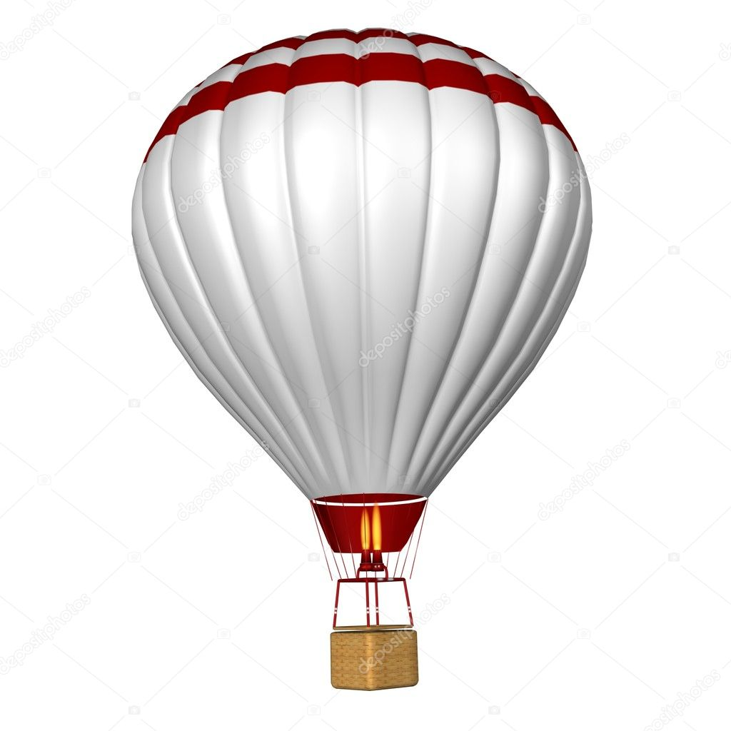 Hot air balloon isolated on a white background — Stock ...