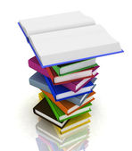 Pile of books isolated on white background — Stockfoto