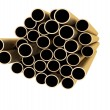 Set of copper pipes lying in one heap — Stock Photo #8420277