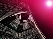 Abstract modern architecture block — Stock Photo