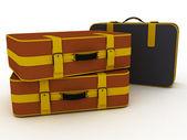 Suitcases isolated on white background — Stock Photo
