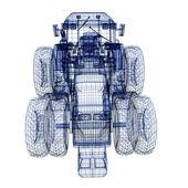 Tractor 3d model — Stock Photo