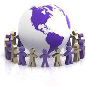 Partenariato mondiale. immagine 3d isolato su sfondo bianco — Foto Stock