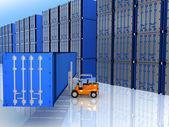 封闭的货物集装箱 — 图库照片