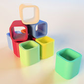 Toy blocks — Stockfoto