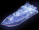 3d model yacht — Stock Photo