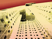 3d abstract modern architecture — Stock Photo