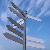 道路標識をレンダリングします。 — ストック写真