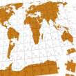 Puzzle map of the world — Stock Photo #8497233