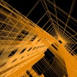 Abstract architectural 3D construction — Stock Photo #8497548