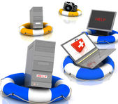 Salvavidas para pc, monitor, cámara y ordenador portátil — Foto de Stock