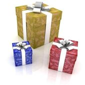 Beautiful gift boxes — Foto de Stock