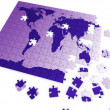 Puzzle map of the world — Stock Photo #8537313