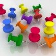 Stock Photo: Colorful push pin collection