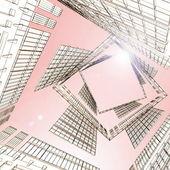 Arquitetura moderna abstrata — Fotografia Stock