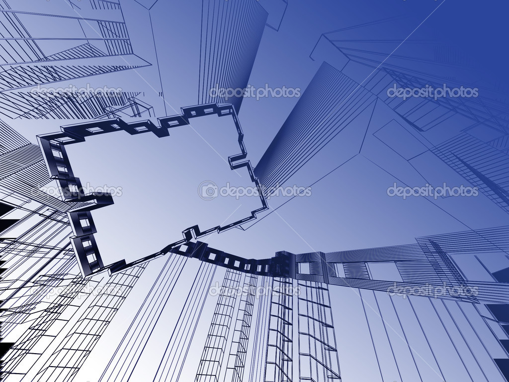 Abstract modern architecture background  Stock Photo #8537420