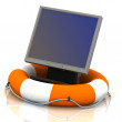 Stock Photo: Monitor lifesaver