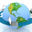 Global network the internet — Stock Photo