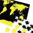 Puzzle map of the world - Stok fotoğraf
