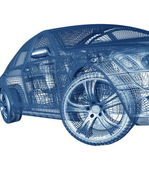 3d 模型汽车 — 图库照片