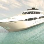 Luxury white cruise yacht — Stock Photo