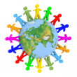 Stock Photo: Global communication concept