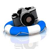 Photo camera at lifeline — Stock Photo