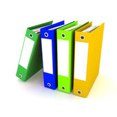 Folders for papers — Stock Photo