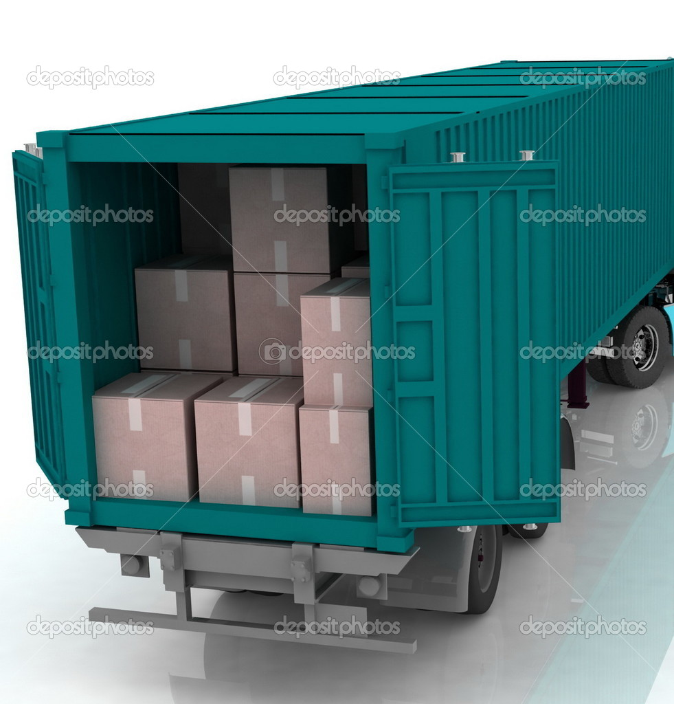 Open cargo container  Stock Photo #8756796