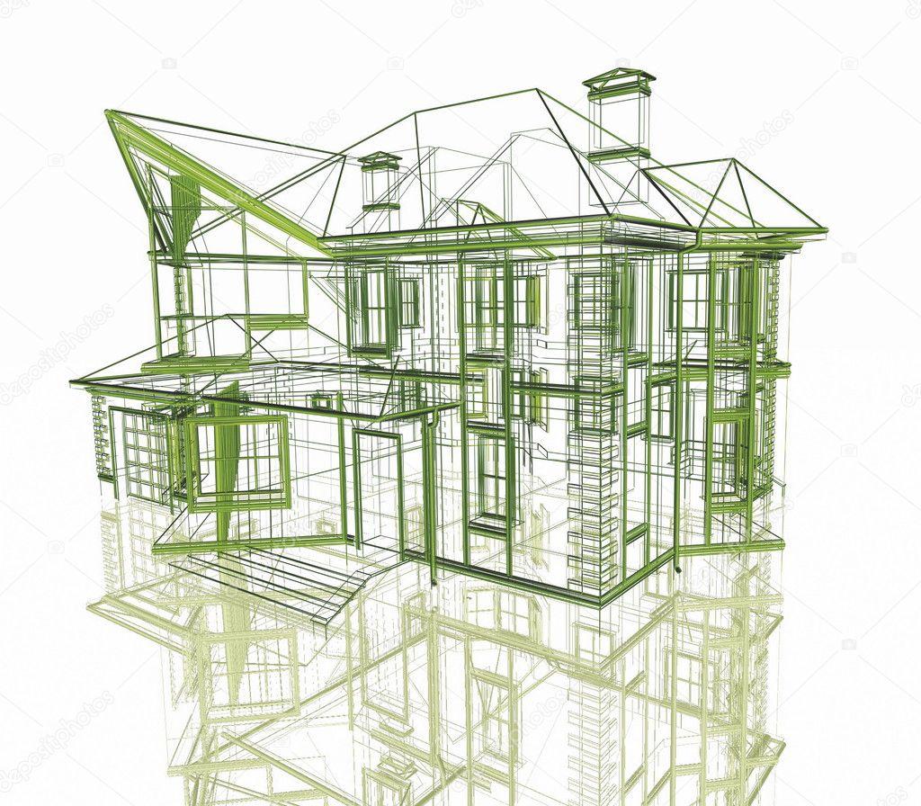 Maison architecte dessin maison moderne for Dessin de maison moderne
