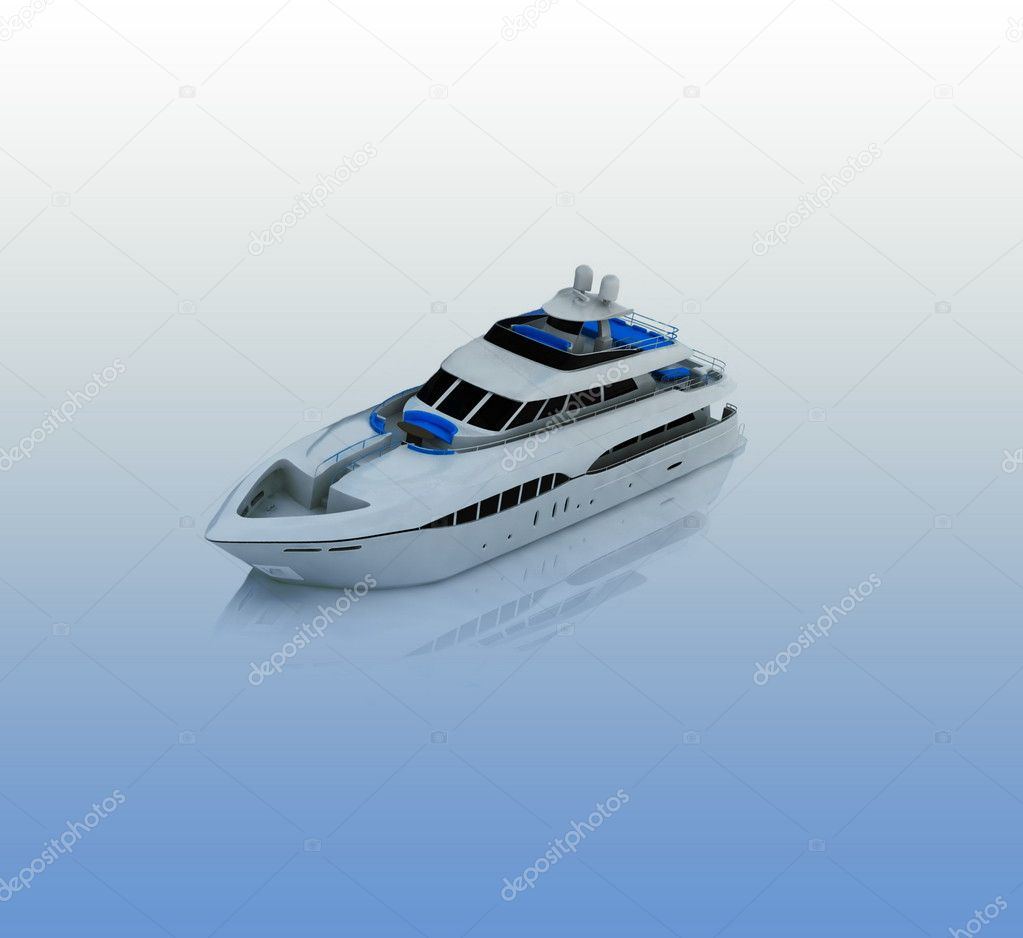White pleasure yacht — Stock Photo #8757067