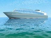 Luxury white cruise ship — Stock Photo