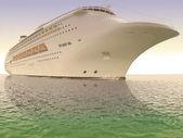 Luxurious white ship — Stock Photo