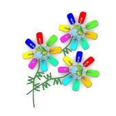Inusual aroma de las flores de internet — Foto de Stock