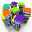 Stock Photo: Stacks of books