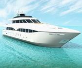 Cruise yacht — Stock Photo