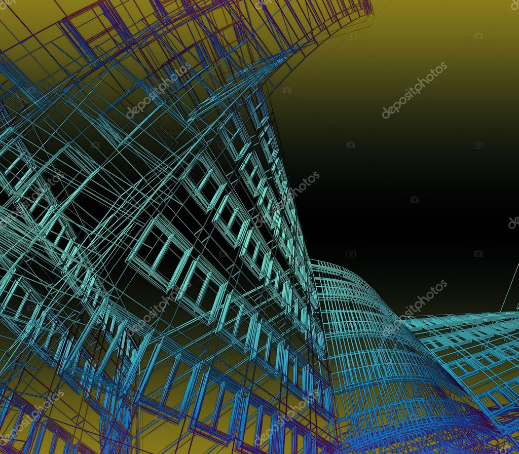 Abstract modern architecture  Stock Photo #8960395
