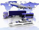 Types of transport — Stock Photo