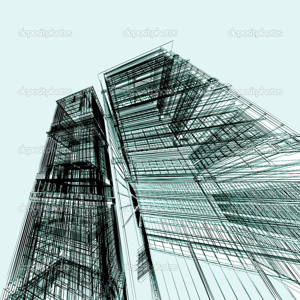 Abstract Modern Architecture Stock Photo 3DDock 9101651