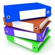 Folders for papers on a white background — Stock Photo #9324174