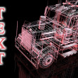 Stock Photo: 3d truck and text