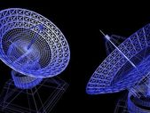 Satellite dishes — Stock Photo